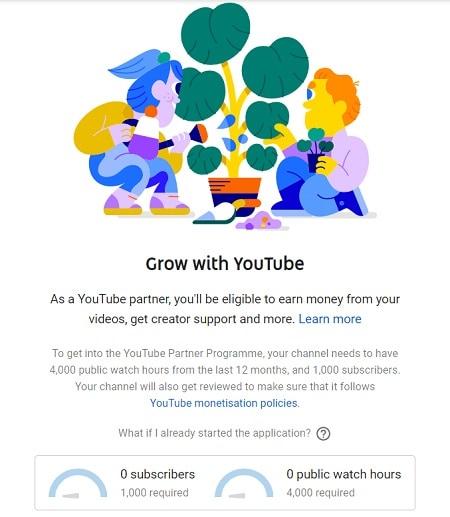 youtube monetization option
