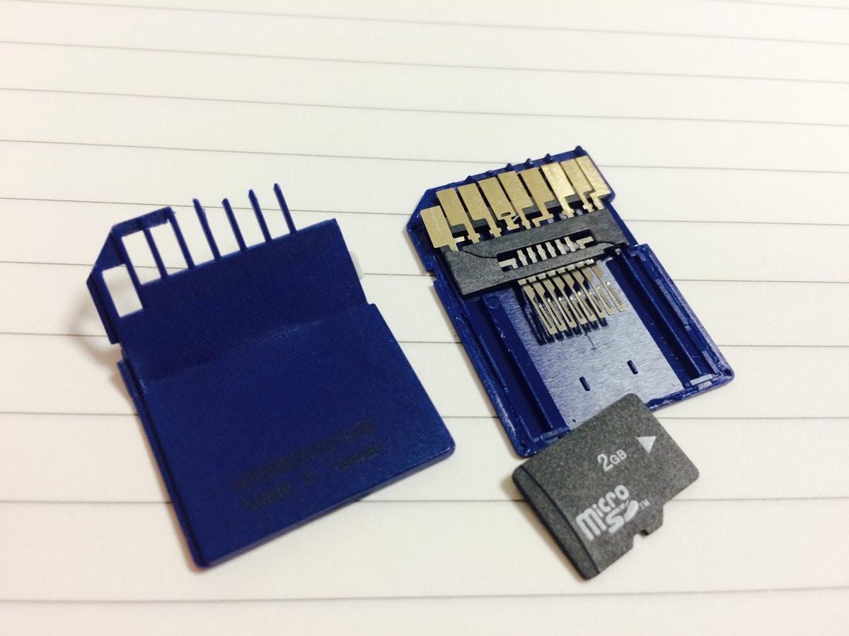 inside an SD card