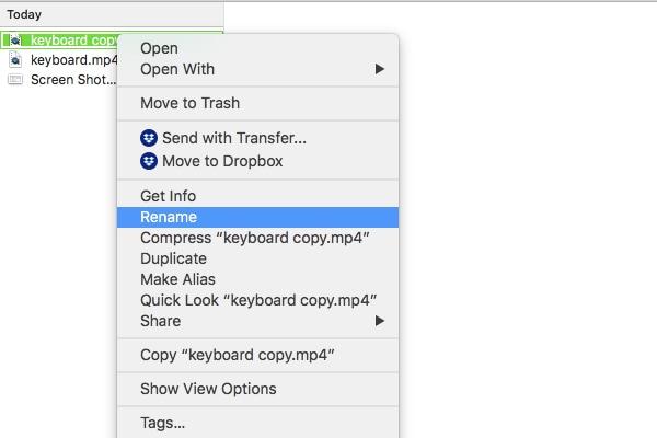 access rename on mac