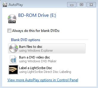 burn files to disk