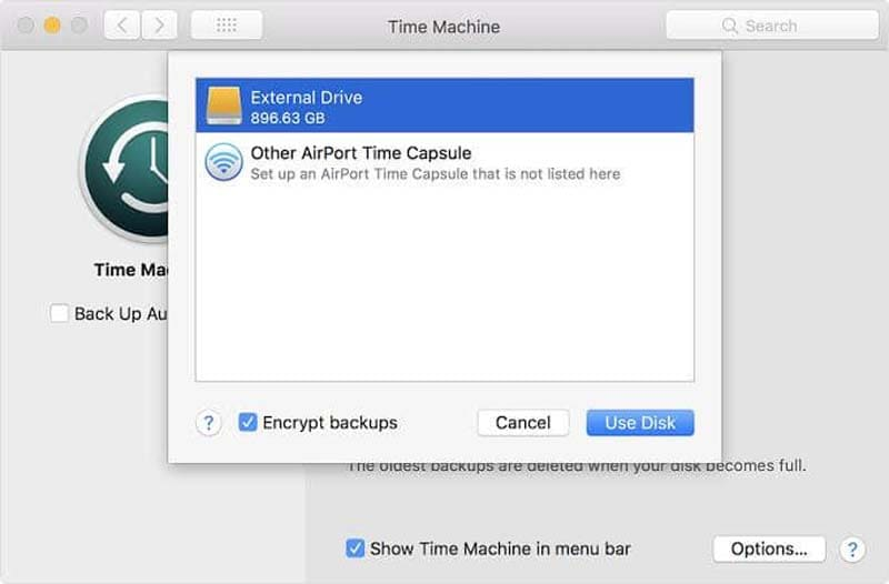 use time machine to back up your mac