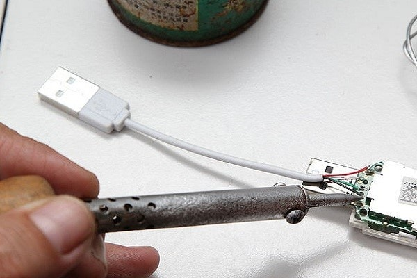 connect the four wires