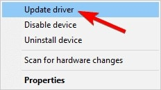 update your camera driver