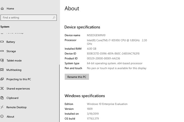 check minimum system requirements windows