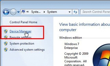 tap on device manager