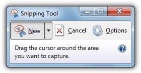 open windows snipping tool