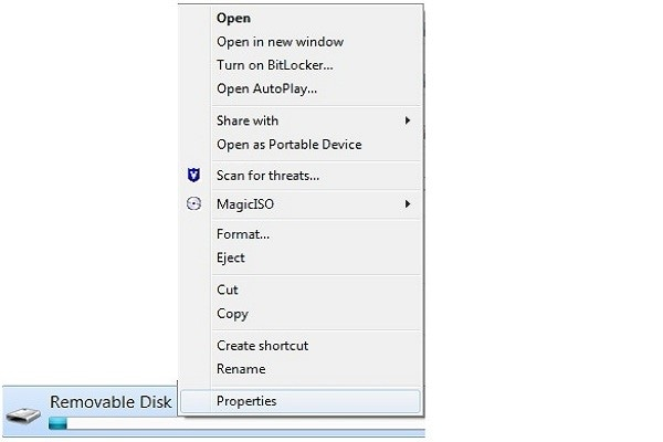 open the flash drive repair utility