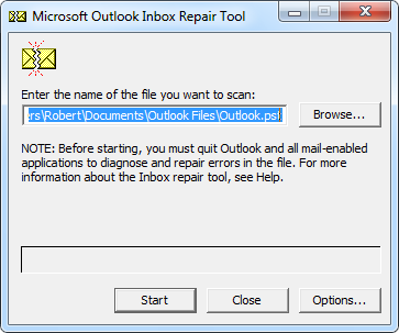 outlook inbox repair tool for corrupted user file