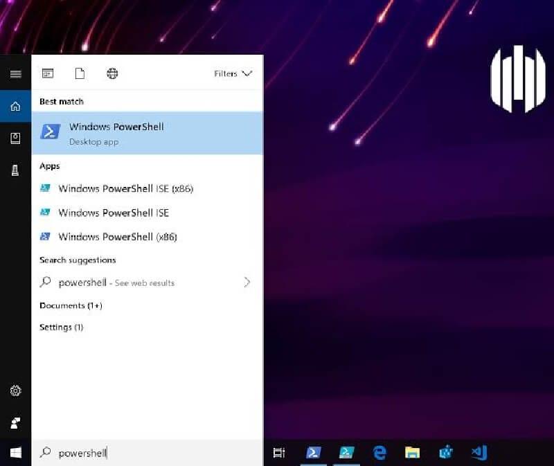 windows procurar PowerShell