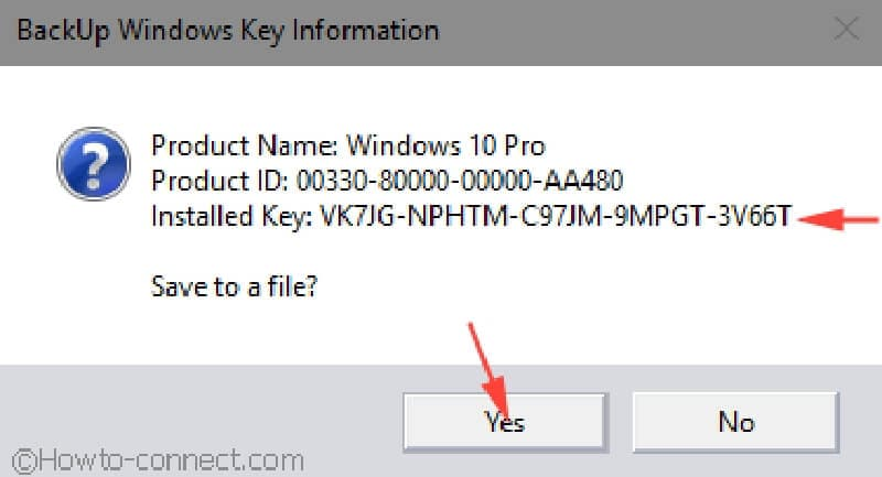 product key shows