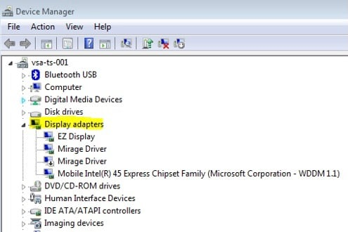 finding your graphics card in device manager