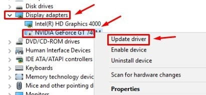 update your graphics driver