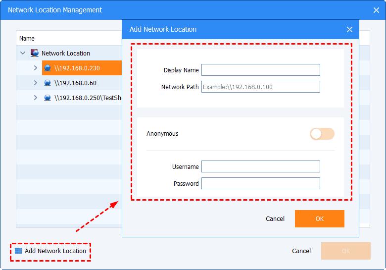 add network location