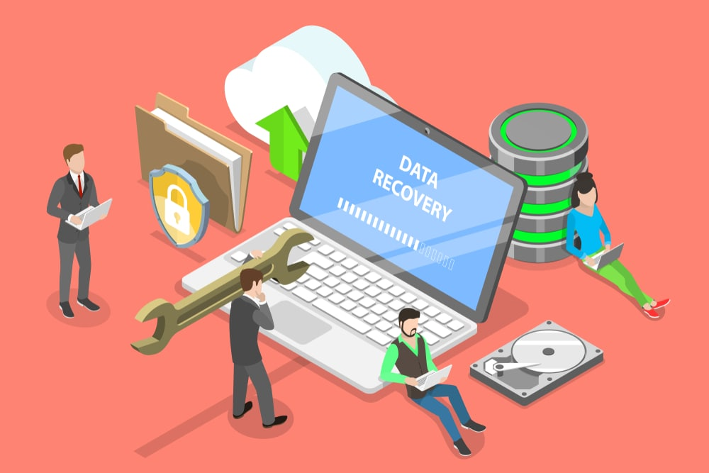 data recovery graphic