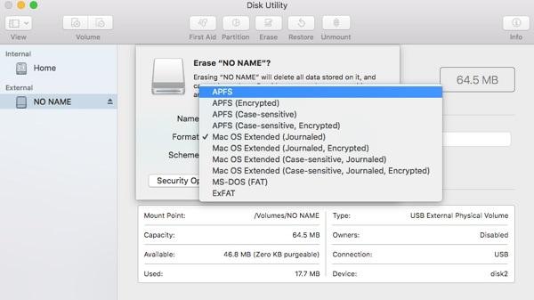 Mac Disk Utility File Format