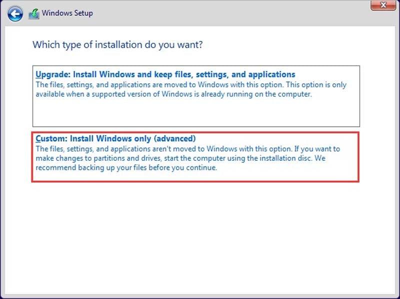 Custom Windows Installation