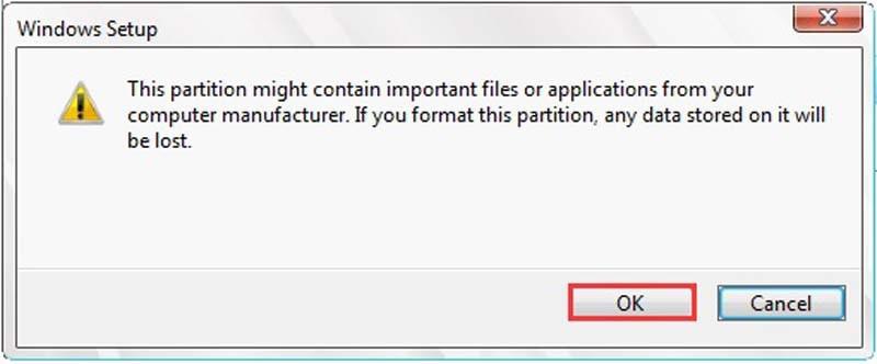 Windows Disc Formatting Drive