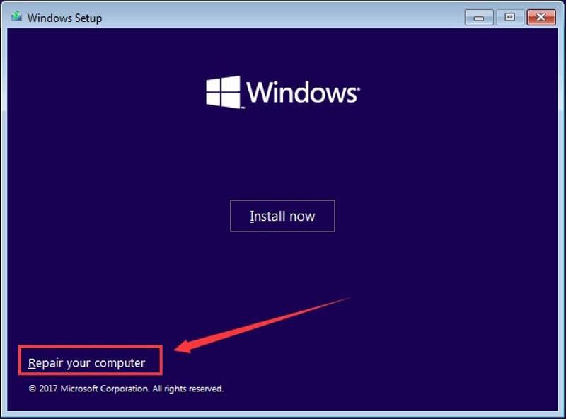 Repair Computer from Windows Installation
