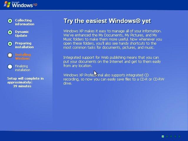 Windows XP Restoring