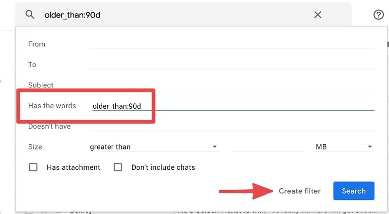 Gmail Filter Older Than