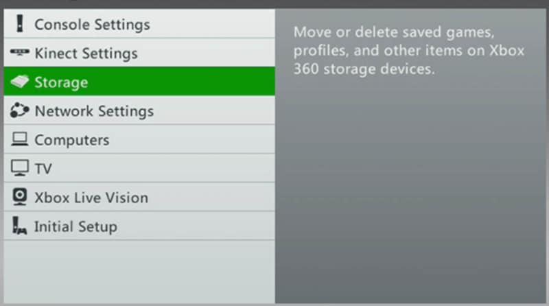 configure hard drive to Xbox 360