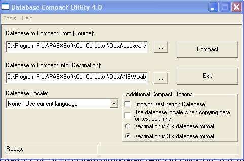using jet compact utility