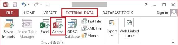 choosing access under the external data