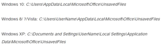 default tempfile per OS versions