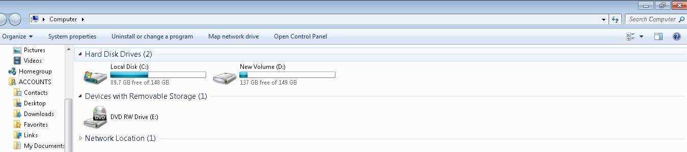 manual search empty folders
