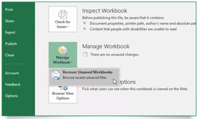 recover lost temp workbooks