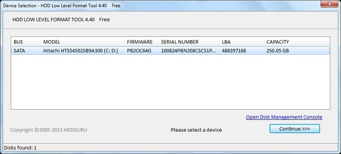 HDD Low-Level Format Tool