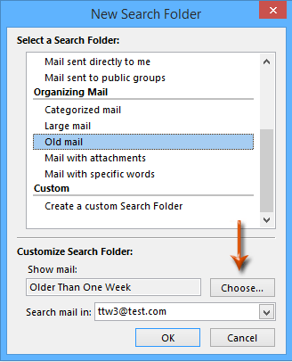 Delete Outlook emails older than months with a search folder