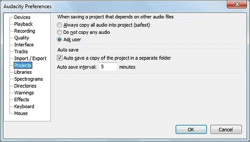 set your autosave timing