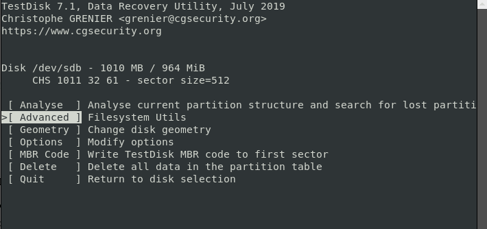 recover ext4 data with textdisk 3