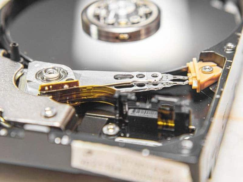 test the hard drive motor