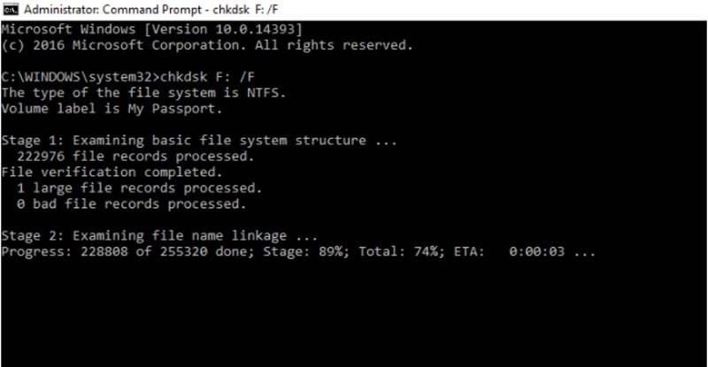 fix logical error through command