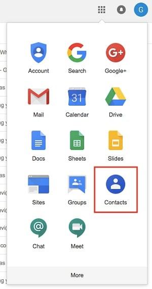 Google Contacts via Gmail