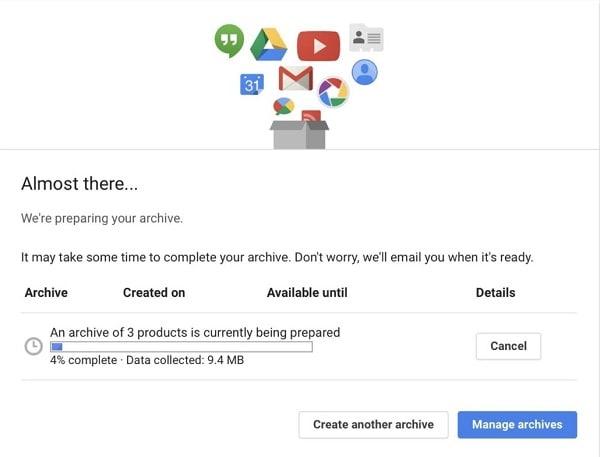 Backup Gmail Data
