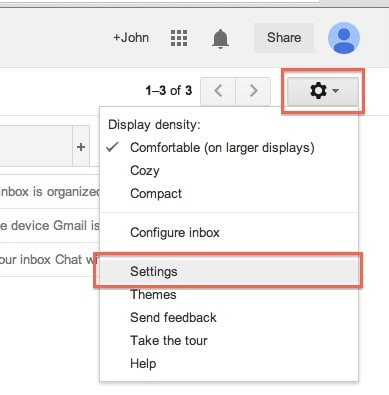 Gmail Settings Icon