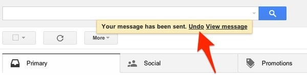 Gmail Undo Send Prompt