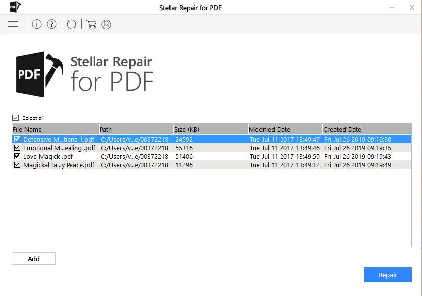 Adding PDFs in Stellar