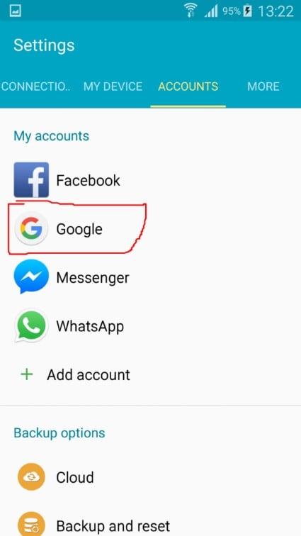 access google accounts