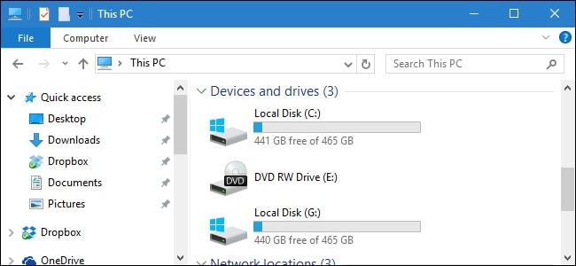checking hard drive partitions for recovering files