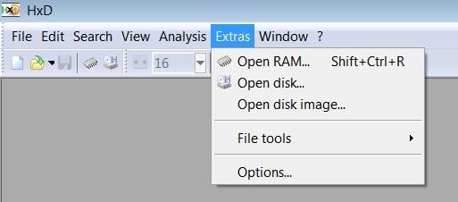 HxD Open Ram