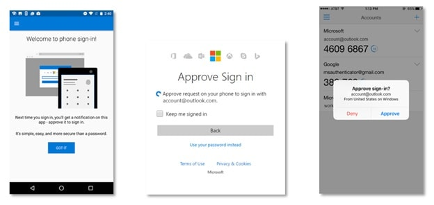 Outlook and Authenticator App