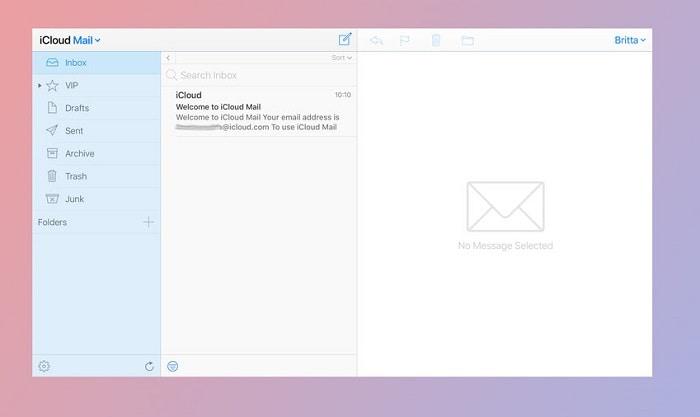 iCloud Mail Inbox