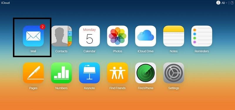iCloud Home Mail