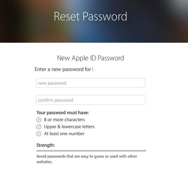 Apple Reset Password
