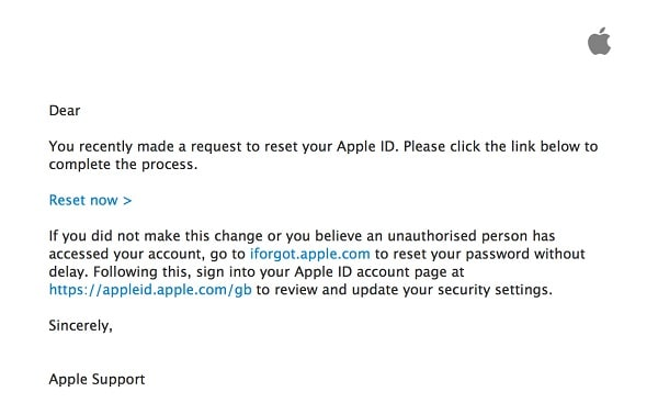 iCloud Recovery Email
