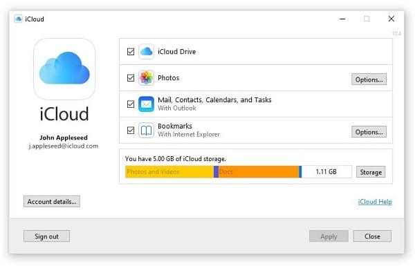 iCloud Desktop Application